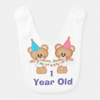 Babador De Bebe Bebê de um ano do feliz aniversario