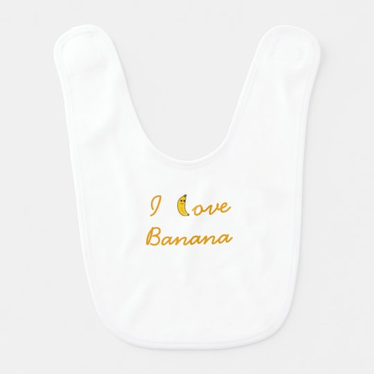 Babador De Bebe Bib I love Banana