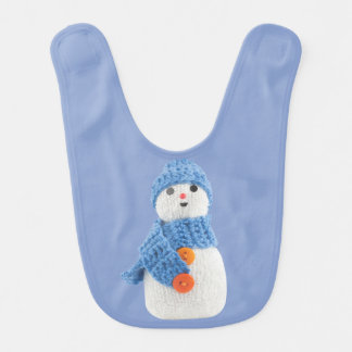 Babador De Bebe Boneco de neve azul