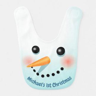 Babador De Bebe Boneco de neve bonito do Natal com nariz da