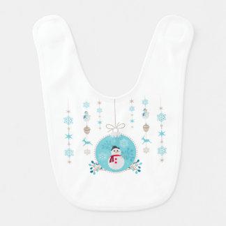 Babador De Bebe Boneco de neve com as decorações de suspensão do