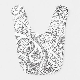 Babador De Bebe Borboleta floral decorativa - o múltiplo colore o