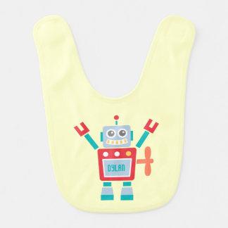 Babador De Bebe Brinquedo bonito do robô do vintage para bebés