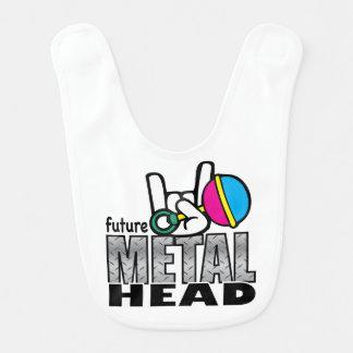 Babador De Bebe Cabeça futura do metal