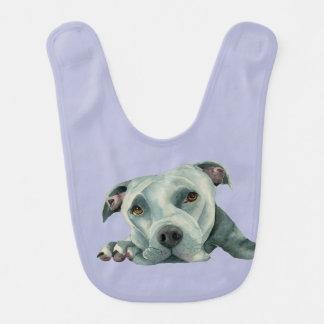 Babador De Bebe Cabeça grande de Ol - pintura da aguarela do cão