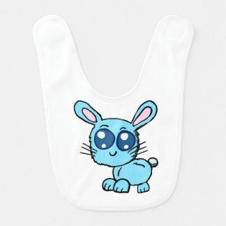 Babador De Bebe Camisa azul do bebê do coelho de Chibi