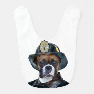 Babador De Bebe Cão do pugilista do bombeiro