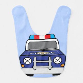 Babador De Bebe Carro-patrulha azul corajoso da polícia