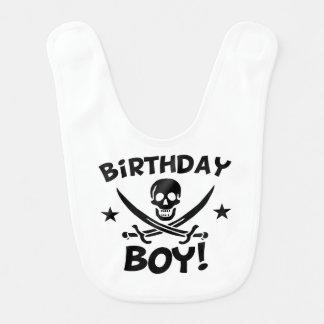 Babador De Bebe Crânio do pirata do menino do aniversário