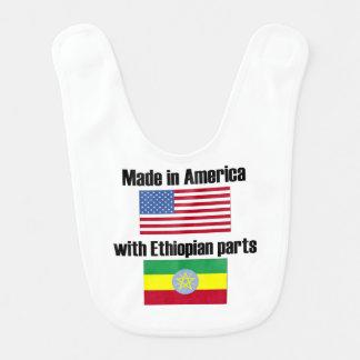 Babador De Bebe Feito em América com peças etíopes