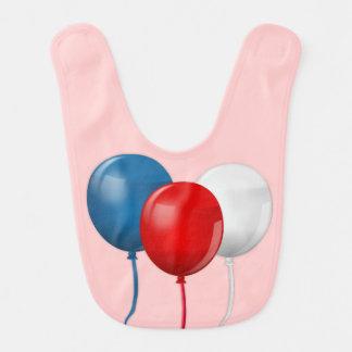 Babador De Bebe Feliz aniversario América (balões)