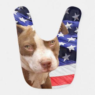 Babador De Bebe Filhote de cachorro de Pitbull Terrier do