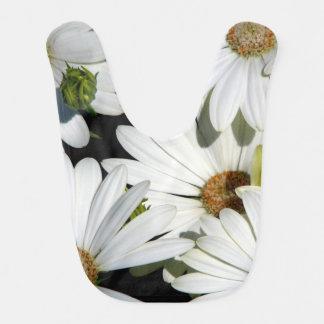 Babador De Bebe Flores da margarida branca