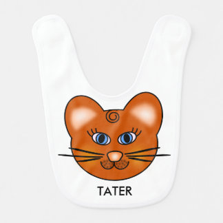 Babador De Bebe Gato de sorriso reversível personalizado do