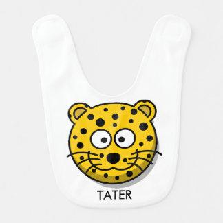 Babador De Bebe Leopardo de sorriso reversível personalizado dos