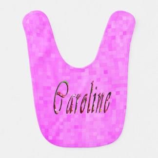 Babador De Bebe Logotipo conhecido floral de Caroline,
