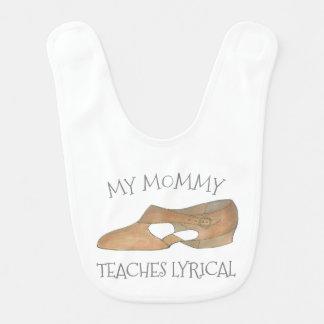 Babador De Bebe Minha mamãe ensina a Tan lírico calçados da dança