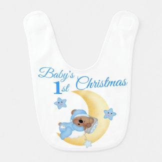 Babador De Bebe Natal do menino de bebês da estrela da lua do urso