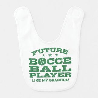 Babador De Bebe O jogador futuro da bola de Bocce gosta de meu