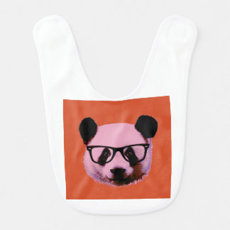 Babador De Bebe Panda com vidros na laranja