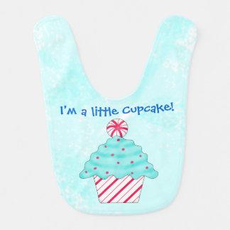 Babador De Bebe Peppermint do Natal eu sou um cupcake pequeno