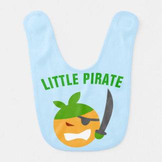 Babador De Bebe Pirata pequeno bonito engraçado