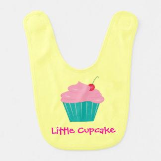 Babador De Bebe Poucos cupcake, rosa e cerceta