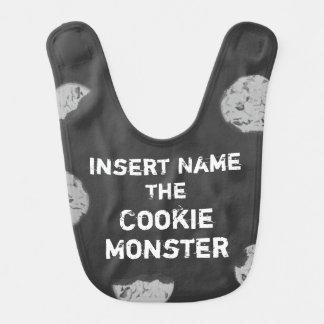 Babador De Bebe Quadro customizável do monstro do biscoito