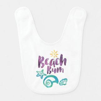 Babador De Bebe Seashells do vagabundo da praia & férias de verão