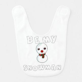 Babador De Bebe seja meu boneco de neve