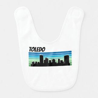 Babador De Bebe Skyline retro de Toledo