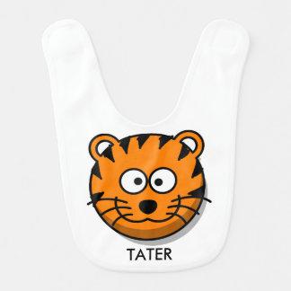 Babador De Bebe Tigre de sorriso reversível personalizado dos
