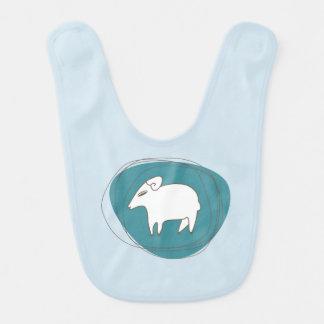 Babador De Bebe Um carneiro nos ovals