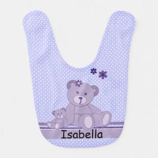 Babador De Bebe Ursos e bolinhas de ursinho