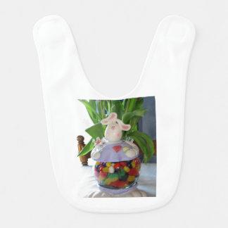 Babador Design do pote de doces do coelhinho da Páscoa