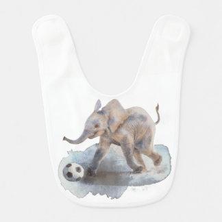 Babador do bebê com elefante brincalhão
