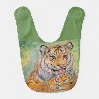 Babador do bebê com MamaTiger e Cub