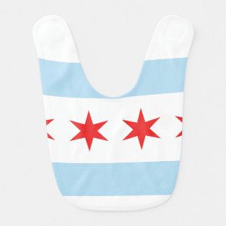 Babador do bebê da bandeira de Chicago