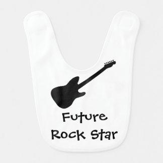"""""""Babador do bebê da estrela do rock futura"""" Babador De Bebe"""