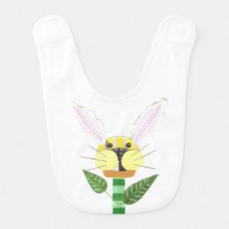 Babador do bebê da flor do coelho