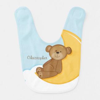 Babador do bebê da lua do urso de ursinho