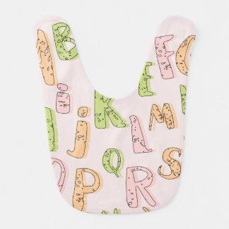 Babador do bebê do alfabeto
