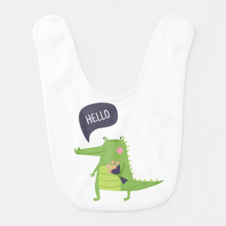 Babador do bebê do crocodilo