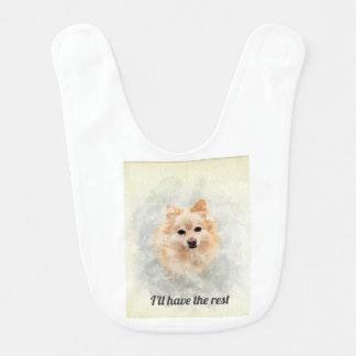 Babador do bebê dos amantes de Pomeranian! Cão de