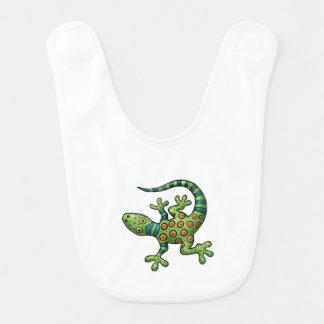 Babador do bebê - iguana dos desenhos animados