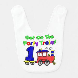 Babador do trem do partido do bebê de um ano