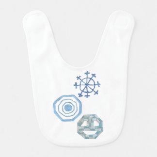 Babador especial do bebê do floco de neve