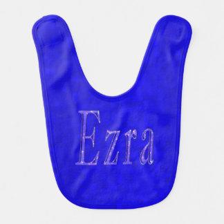 Babador Ezra, nome, logotipo, Bib. do bebê azul