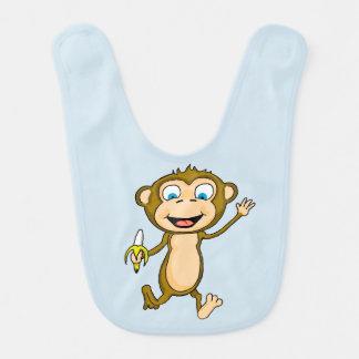 Babador feliz do bebê do macaco