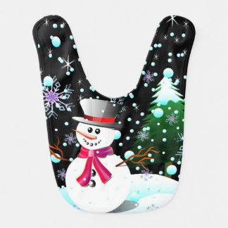 Babador Feliz Natal do boneco de neve